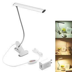 WOERFU Desk Lamp with Clamp Dimmable LED Bedsid Reading Lamp