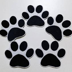 Set of 10 pcs Dog PAW Iron On Sew On Cloth Embroidered Patch