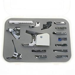BIGTEDDY 15pc Domestic Sewing Machine Snap-On Presser Walkin