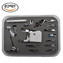 Renashed Professional 15pcs Domestic Sewing Presser Foot Kit