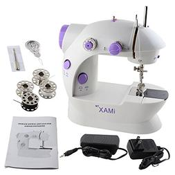 Nex Double Speed Portable Sewing Machine for Beginner, with