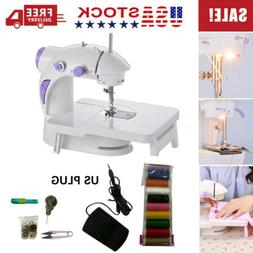 Dual Speed Portable Electric Sewing Machine w/ Foot Pedal Ex