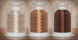 Hemingworth 1000 m Embroidery Thread Color Set, Brown - Tan
