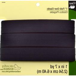 Dritz 9387B Fold-Over Woven Elastic, Black, 1-Inch by 7-Yard