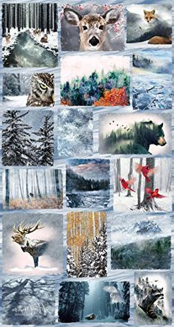 Frost/Animal Medley Fabric Panel - Call of the Wild Digital