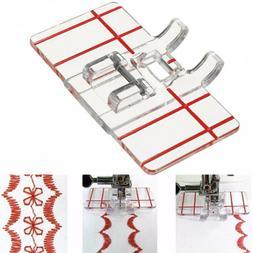 Guide Parallel Stitch Sewing Machine Feet Presser Foot Measu