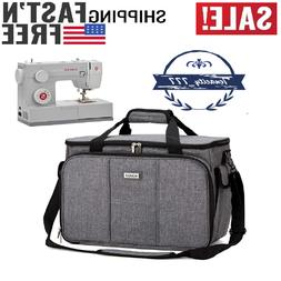 HOMEST Sewing Machine Carrying Case w Multiple Storage Pocke