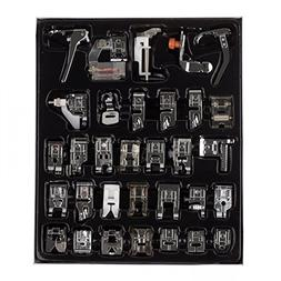 Aenmil Huge Collection of 32 pcs Sewing Presser Feet for Mos