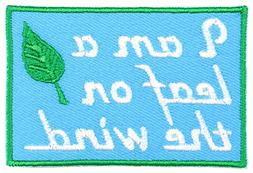 I'm a Leaf on The Wind Embroidered Iron On Applique Patch -