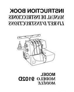 Janome S1234DX 9102D Sewing Machine overlock Instruction Man