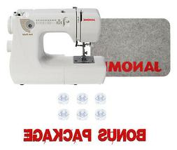Janome Jem Gold 660 Portable Sewing & Quilting Machine w/ Bo