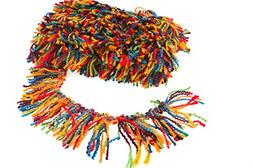 Marsha Q Multicolor Knitting Yarn Tassel Fringe Woolen Trim