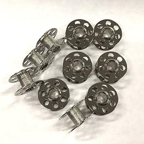 10 metal bobbins