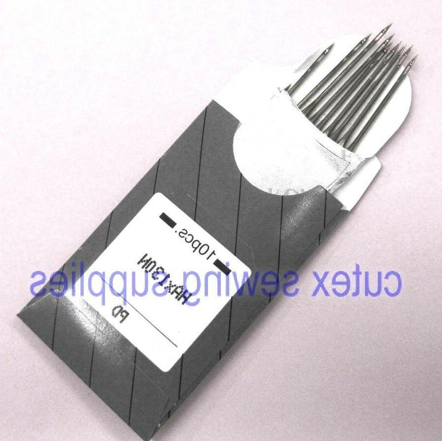 10 titanium hax130n top stitching flat shank