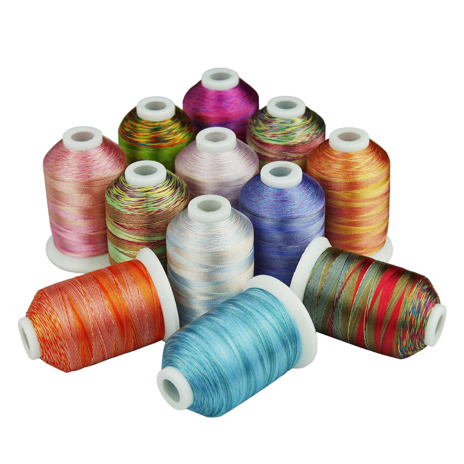 12 colors thread embroidery machine hand embroidery