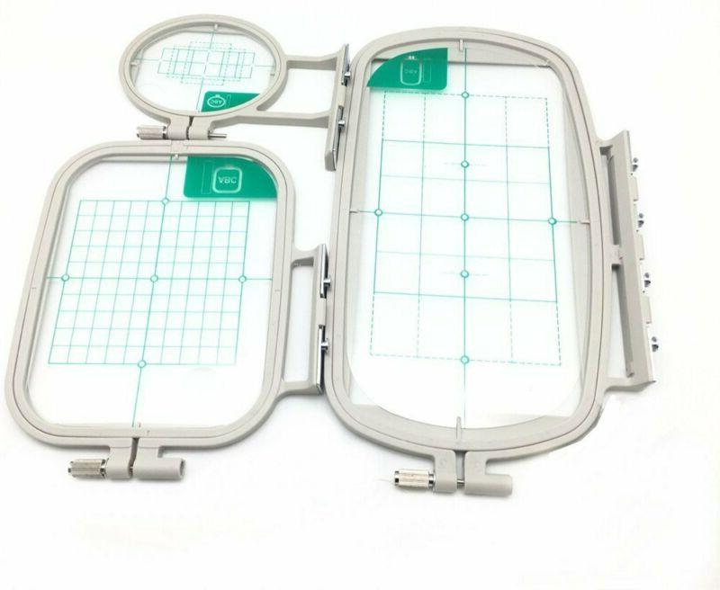 Yeqin 3 Pcs Sewing Embroidery Machine Hoop Set Sewing Hoop F