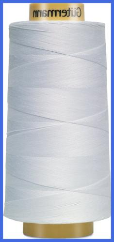 3000C 5709 Natural Cotton Thread Solids 3281 Yard WHITE 1 Pa