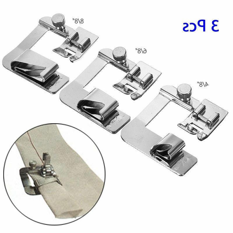 3x/Set ROLLED Hemmer Sewing Presser