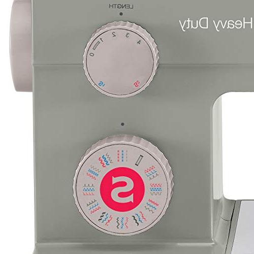 SINGER Heavy 4452 Sewing Machine Accessories, 32 Stitches, 60% Motor, Stainless Steel Bedplate, Stitching & Automatic Needle
