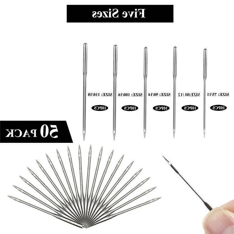 50x Sewing Needles Fits Brother Singer Quilting