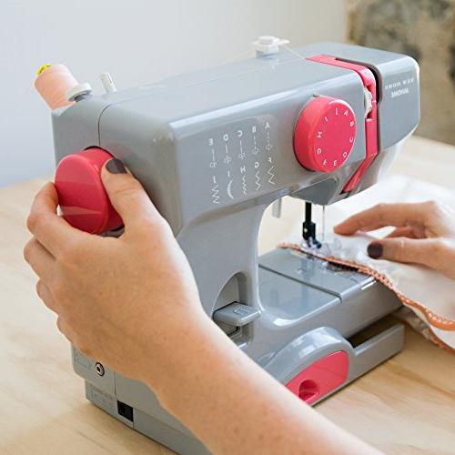 Janome Gray Easy-to-Use, 10-Stitch Portable, Compact Sewing Arm 5