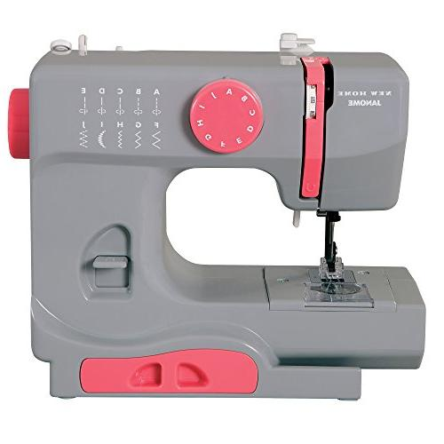Janome Graceful Gray Basic, Easy-to-Use, 10-Stitch Portable,