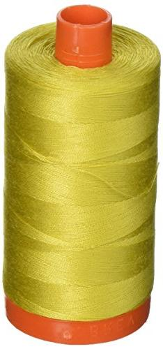 Aurifil A1050-5015 Solid 50wt 1422yds Gold Yellow Mako Cotto