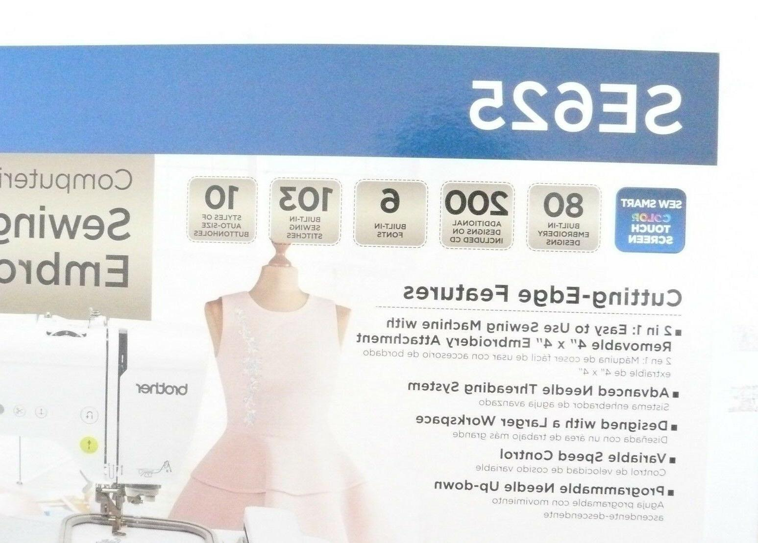 Brand Brother SE625 Computerized Sewing Embroidery Machine