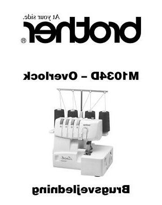 brother m1034d overlock serger machine owners instruction