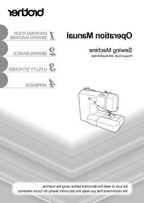 brother xs2100 sewing machine owners instruction reprint