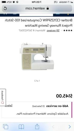 Brother CE1125PRW Runway Computerized Sewing