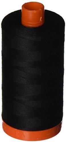 Aurifil Cotton Mako 50wt 1300m Black 020128