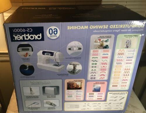 Brother CS-6000i Sewing Machine. BRAND NEW! OPENED!