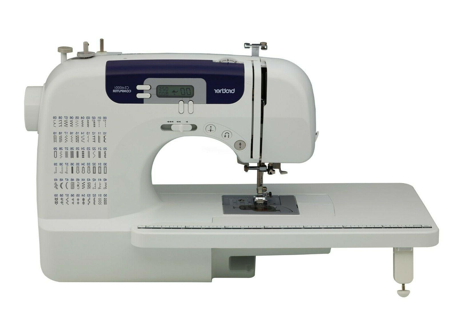 cs6000i computerized sewing machine with wide tablefree