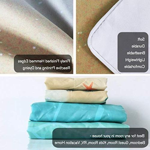 MTSJTliangwan Cover Set Green Turtle Piece Set Pillow Queen/Full, Orange White