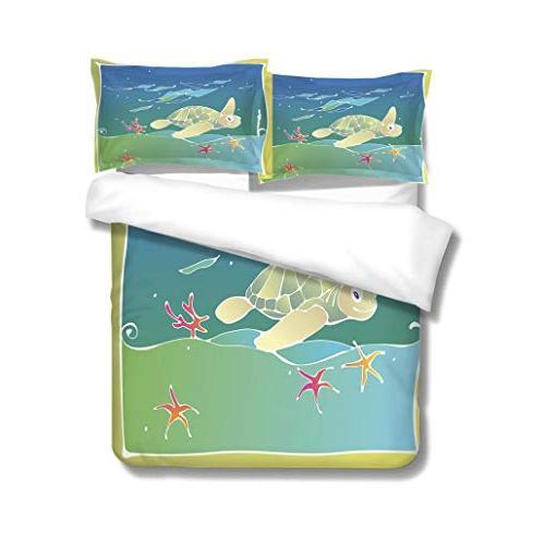 duvet cover set green sea