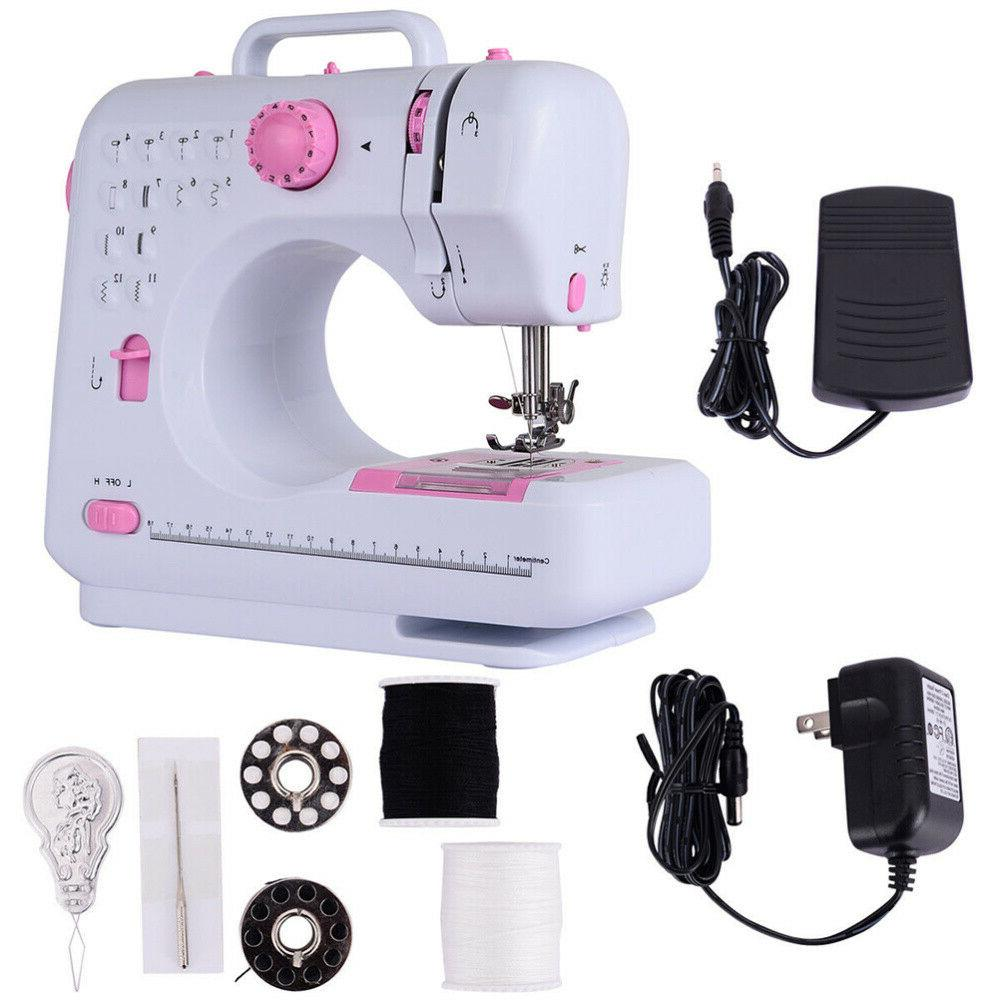 12 Stitches Electric Desktop Sewing Machine Household Tailor