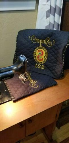 Singer Featherweight Sewing Machine Dust Cover w/ sleeve CHO