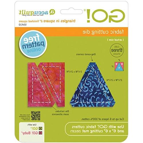 go fabric cutting dies triangles