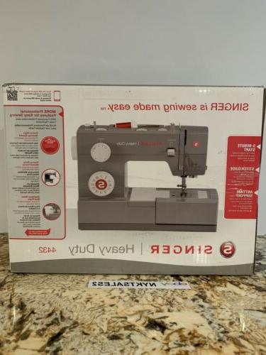Singer HEAVY DUTY 4432 Sewing Machine FREE NEEDLES WITH PURC