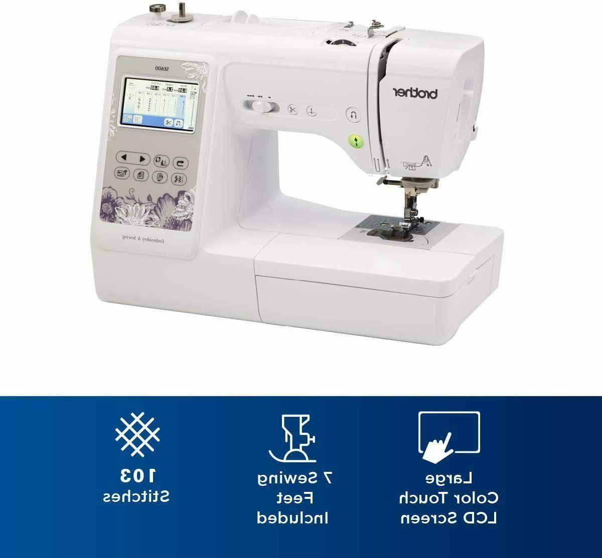 New SE600 Combo Computerized & Embroidery Machine Free