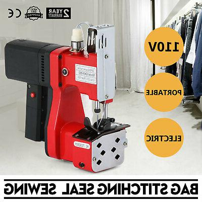 110V Industrial Portable Electric Bag Sewing Machine Sealing