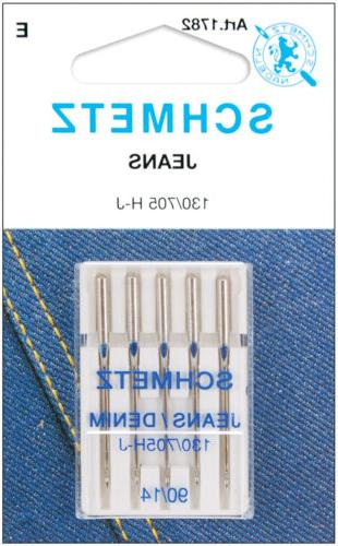 Jean & Denim Machine Needles-Size 14/90 5/Pkg