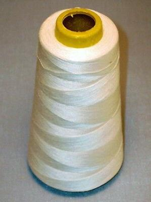 lot of 12 spools white polyester sewing