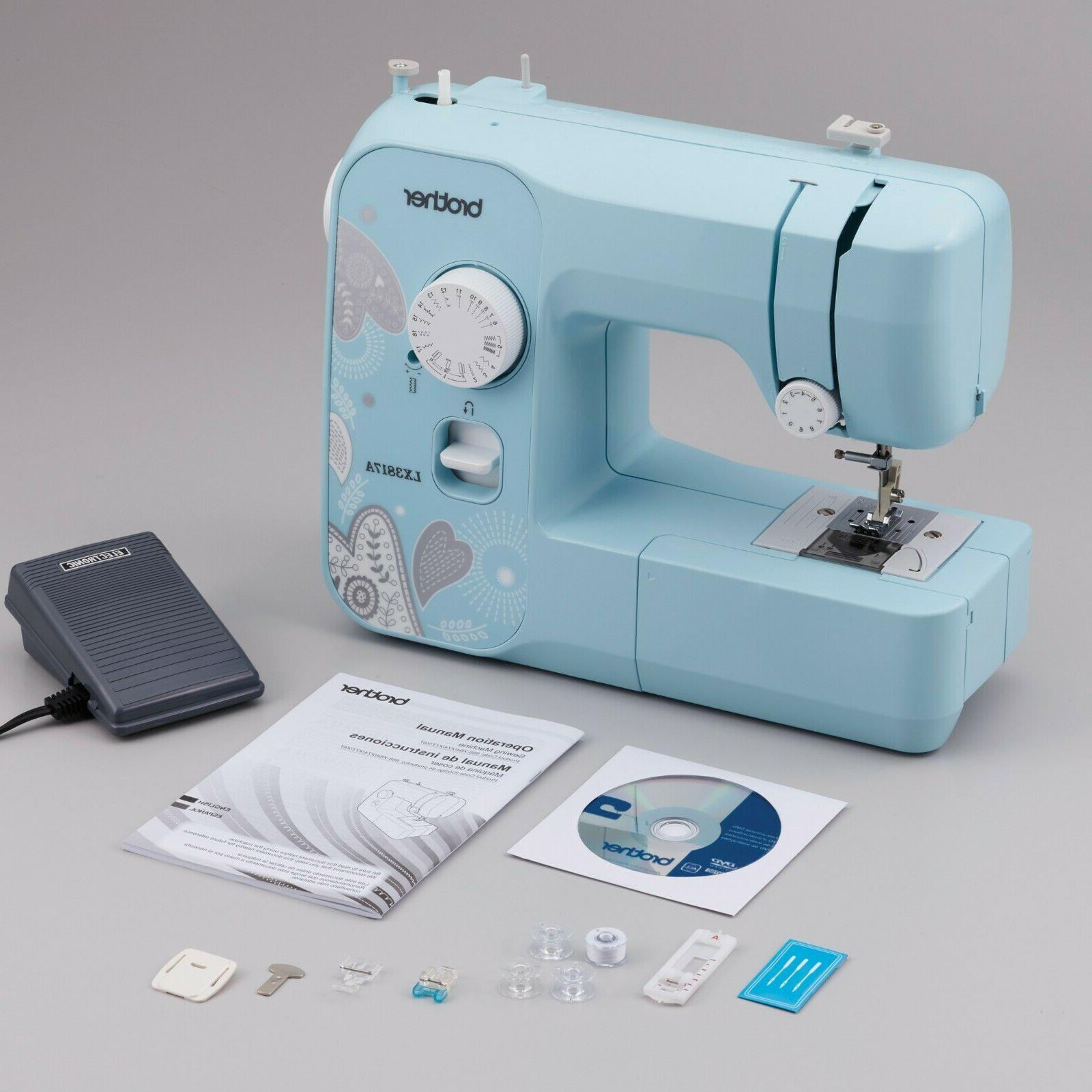 Brother LX3817A 17-Stitch Aqua