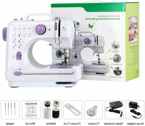 Mini Sewing Machine Free-Arm Sewing Machine with 12 Built-In