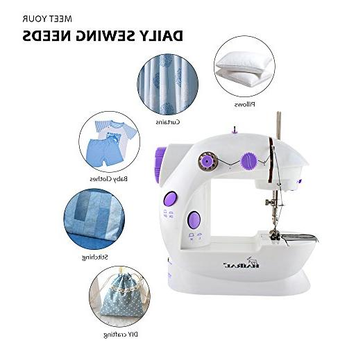 HAITRAL Sewing Machine Adjustable 2-Speed Electric Mending with