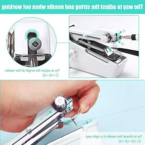 machine,Professional Sewing Handheld Household for Fabric, Travel