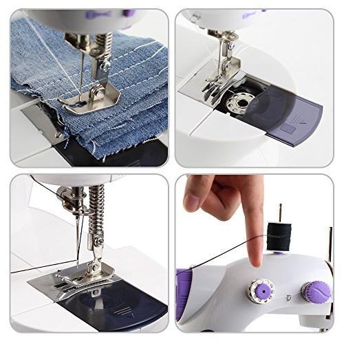 Mini Machine with 25 PCS Bobbins Sewing Thread