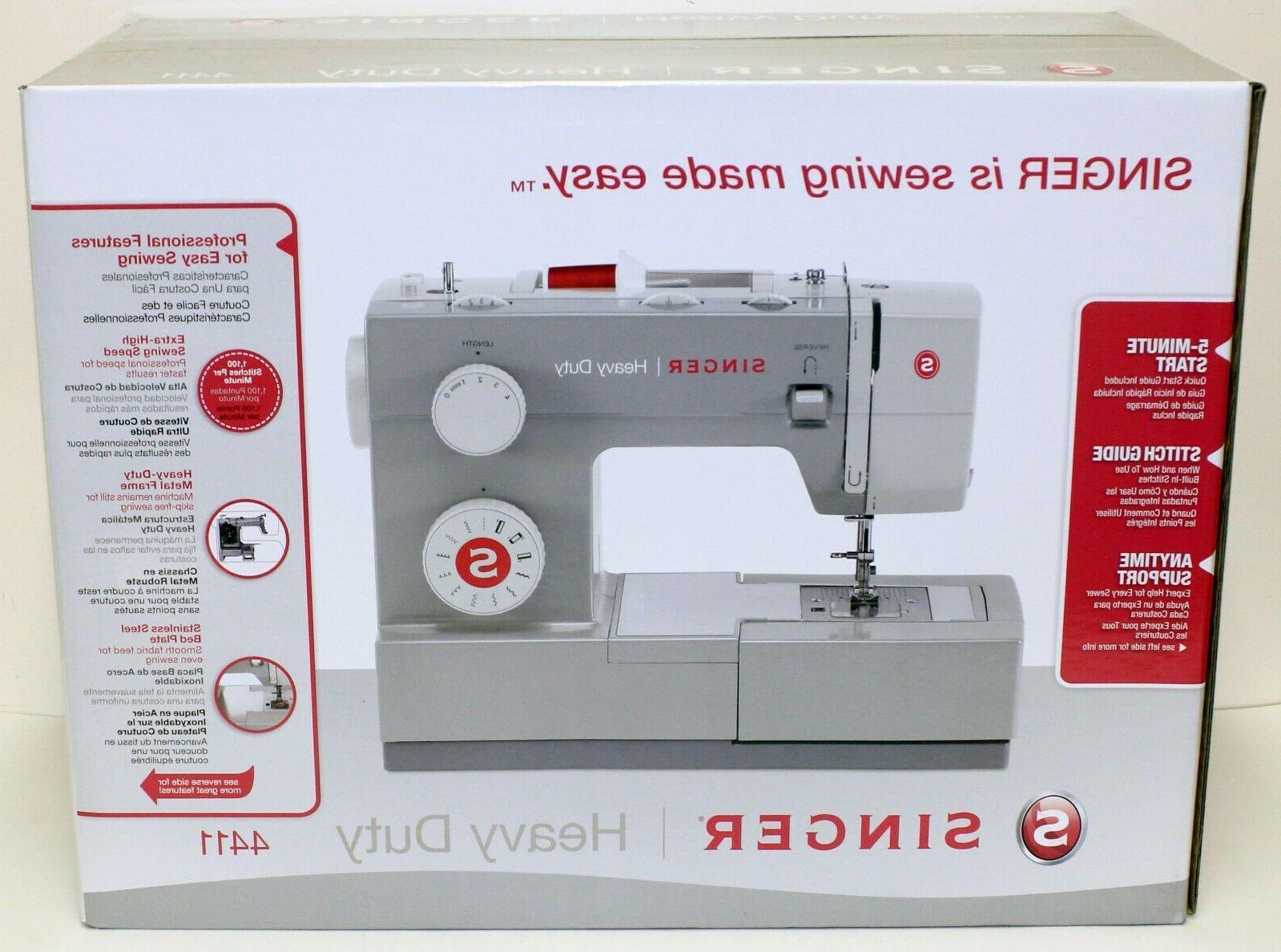 new 4411 heavy duty sewing machine w